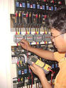 Capacitor check by cap meter