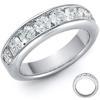 แหวนเพชรแถว 0.60 กระรัต (10 เม็ด) ทองขาว