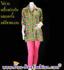 เสื้อลายดอกผู้หญิง เสื้อสงกรานต์ผู้หญิง เชิ้ตลายดอกผู้หญิง เสื้อย้อนยุคผู้หญิง (ไซส์ L : รอบอก 34 นิ้ว) (ดูไซส์ส่วนอื่น คลิ๊กค่ะ)