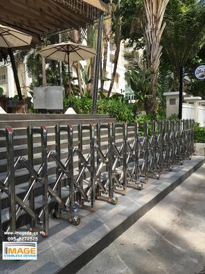 ประตูยืดพับเก็บสแตนเลส Site: Kantary Bay Rayong จ.ระยอง