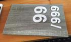 ป้ายเลขที่ห้องลายไม้