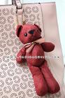 ตุ๊กตาหมีผูกโบว์ สีเลือดหมู