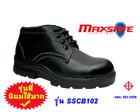 รองเท้าเซฟตี้ หุ้มข้อหนังอัดลายสีดำ  SSCB102 (Safety Shoes-รองเท้านิรภัย)