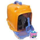 ส้วมแมว ห้องน้ำแมว สีส้ม ฟ้า รุ่นมีที่เช็ดเท้า ทรายไม่ติดเท้า เลอะเทอะ กว้าง 15 ยาว 19 สูง 16 นิ้ว