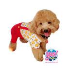 ชุดกางเกงหมา  Yes!ชุดเอี๊ยมเป็ด คอกลมกางเกงแดง ขนาด Size6- 16*20*13 นิ้ว