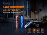 ไฟฉายพวงกุญแจ Fenix E02R 200 Lumens ชาร์จในตัว