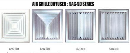 หัวจ่ายแอร์แบบเหลี่ยม (Square Ceiling Diffuser)