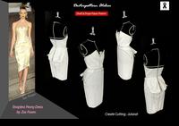ผลงานการฝึกออกแบบคัตติ้งแพทเทิร์นชุดกระโปรงราตรีสั้น