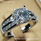 แหวนเพชร 1.2 กะรัต เกรด7A คัดพิเศษเพชรเจียระไน100เหลี่ยม ตัวเรือนดีไซน์ยุโรป สวยหรูทันสมัย ตัวเรือนเงินแท้ 92.5%ชุบทองคำขาว