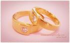 GRC0001 แหวนคู่แต่งงานทองฝังเพชร สลักชื่อด้านใน