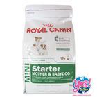 อาหารสุนัข  โรยัล คานิน MINI Starter & BABYDOG โรยัล คานิน อาหารสำหรับลูกสุนัขและแม่สุนัข ขนาด1  กิโลกรัม