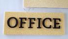 Office ป้ายบอกชื่อ ป้ายพลาสวูด