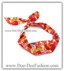 ผ้าคาดผมหูกระต่าย โครงลวดดัดคาดผม ผ้าคาดผมลวดดัด Ribbon Bunny wire headband (ผ้าคาดผมสีส้ม/ผ้าคาดผมสีแดง) (ดูไซส์ คลิ๊กค่ะ)