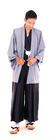 V271 ชุดฮากะมะเซ็ทใหญ่ ชุดผู้ชายญี่ปุ่น ชุดญี่ปุ่น ชุดแฟนซี