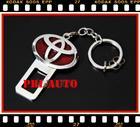 หัวเข็มขัดนิรภัยกันเสียงเตือน สำหรับ ผู้ที่รำคาญเสียงสัญญาณเตือน toyota  metal seat belt buckle alarm stopper key chain