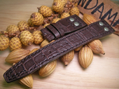 Strap For IWC Big Pilot.Croco Oak Color.