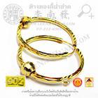 ต่างหูห่วงปะคำตัดลายหน้ากว้าง24มิล(น้ำหนักโดยประมาณ1.7กรัม)(แบบห่วง) ทอง 90%