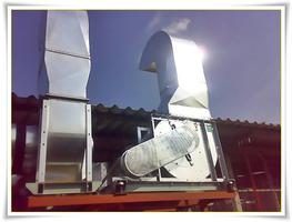 ระบบเดินท่อแก๊ส + ระบบมอเตอร์ดูดควัน