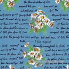 ผ้าคอตตอนญี่ปุ่น Yuwa Oxford ขนาด 1/4 หลา SZ156141-B สีน้ำเงิน