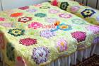 ผ้าคลุมเตียงลายหกเหลี่ยม