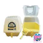 ห้องน้ำแมว สีเหลือง ยี่ห้อ Dr.LEE กว้าง 15.5 นิ้ว ยาว 19 นิ้ว สูง 16 นิ้ว