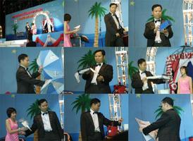 การแสดงมายากลโดย หนึ่งมายากล ณ เทศบาลเมืองกาญจนบุรี ในงานวันลอยกระทง และประกวดนางนพมาศ