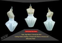 กระโปรงทรงเลขาคณิตเอวสูง : High Waist Geometric Skirt