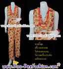 ชุดลายดอก ชุดย้อนยุค ชุดทองกวาว ชุดมนต์รักลูกทุ่ง ธีมงานวัด เสื้อ + กางเกง สีสวยสดใสมากๆ ค่ะ (อก 34 นิ้ว / เอว 38 นิ้ว) (ดูไซส์ส่วนอื่น คลิ๊กค่ะ)