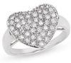 แหวนเพชรแท้ หัวใจ   0.84 ct.   ทอง 90% /ทองคำขาว