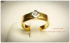 GR0012 แหวนทองฝังเพชร