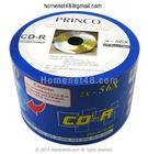 CD-R Princo ขาว 56X เกรด A 50 แผ่น NoBox