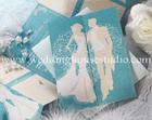 การ์ดแต่งงานการ์ดสามพับสีฟ้ารหัส29-0076