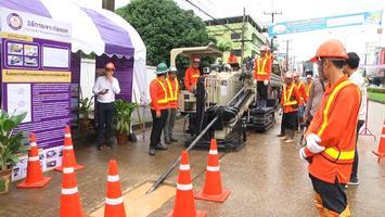 งานเคเบิ้ลใต้ดินระบบไฟฟ้า Root แรก. บนเส้นถนน ทิตโย.  จ.นครพนม