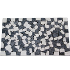 Stone mat พื้นหินสำเร็จรูป วัสดุปูพื้นลายหิน หินปูพื้น ตกแต่งบ้าน รุ่น DM369 สี Blak+White ขนาด 70x40 ซม. ราคา 699 บาท/ชิ้น
