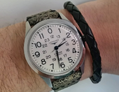Longines Watch with Strap White Cracked Color.