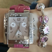Christian Dior Watch with Strap Croco Pinky Color