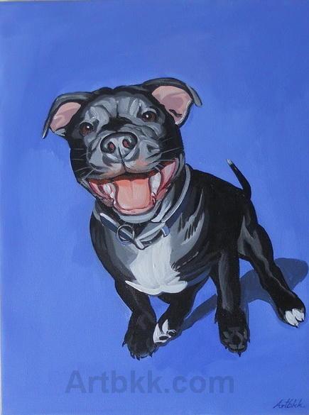 Pop art Bulldog