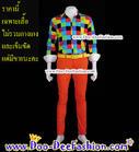 เสื้อผู้ชายสีสด ชุดแหยม เสื้อแบบแหยม ชุดพี่คล้าว ชุดย้อนยุคผู้ชาย เสื้อสีสดผู้ชาย เชิ้ตสีสด (ไซส์ M:รอบอก 37) (TY) (ดูไซส์ส่วนอื่น คลิ๊กค่ะ)