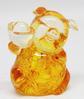 หมูถือก้อนทองเรซิ่นใสเหลือง 3.5