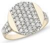 แหวนเพชรเดี่ยว 0.96 กระรัต ( 46 เม็ด) ทอง90%