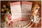 การ์ดแต่งงาน การ์ดหน้าเดียว สีชมพู รหัส A0151