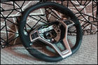 C63 AMG Alcantara Steering Wheel with RED Stitch