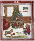 ผ้าอเมริกาลาย Christmas Tree สีแดง