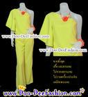 ชุดลายดอก ชุดย้อนยุค ชุดทองกวาว ชุดมนต์รักลูกทุ่ง ธีมงานวัด เสื้อ + กางเกง สีสวยสดใสมากๆ ค่ะ (อก 34 นิ้ว / เอว 28 นิ้ว) (ดูไซส์ส่วนอื่น คลิ๊กค่ะ)