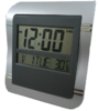 GooAB Shop นาฬิกาแขวนผนัง ดิจิตอล ขนาด 9 นิ้ว - สีเทา