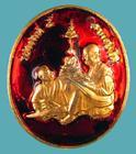 เหรียญลงยา รัชกาลที่๕ - สมเด็จพระพุฒาจารย์โต. วัดตำหนักภวนาราม อ.ท่าเรือ อยุธยา