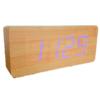 LED Wood Clock  : นาฬิกา LED สีฟ้า ลายไม้ สวยงาม คลาสสิก เหมาะสำหรับตกแต่งห้อง ห้องนั่งเล่น ห้องนอน