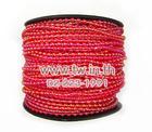 มุกเส้น 3mm.(50yds)สีแดงรุ้ง(15/R)