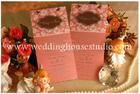 การ์ดแต่งงาน การ์ดหน้าเดียว สีชมพู A0161