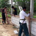 คืบหน้าสร้างบ้านผู้ประสบภัยน้ำท่วม